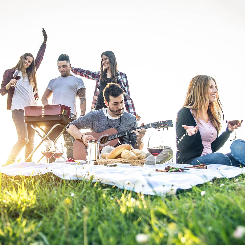 Healthy summer picnic