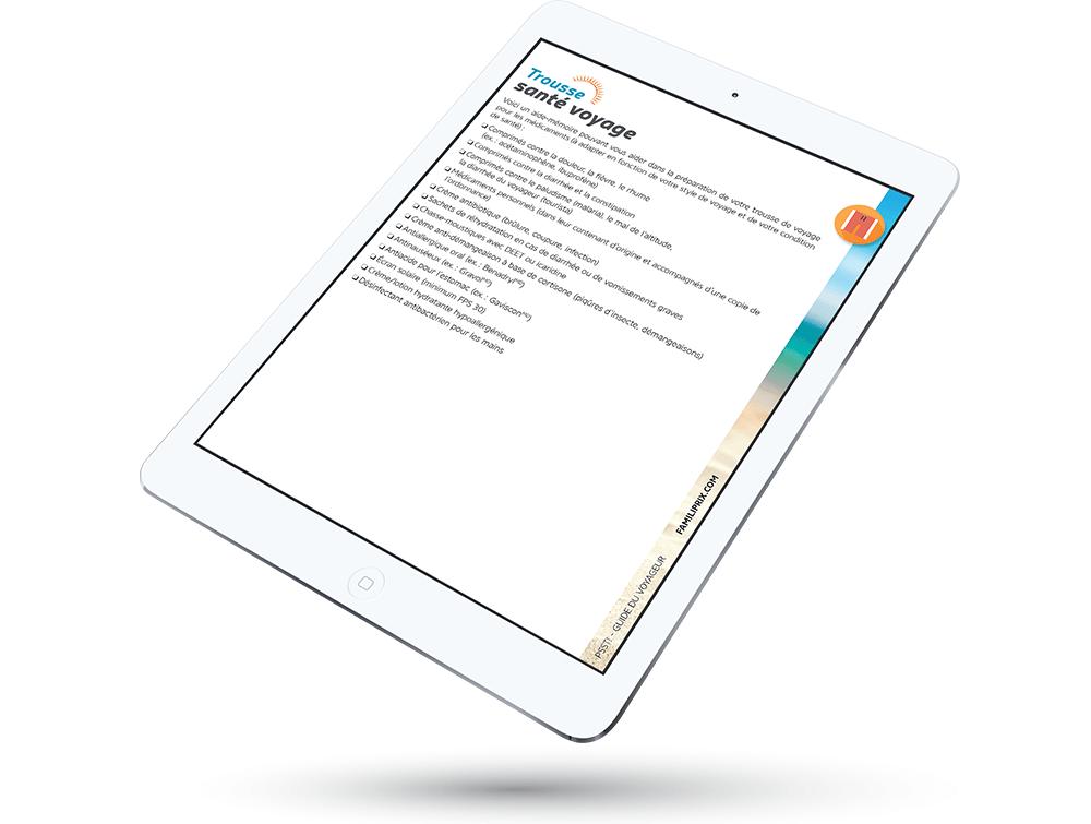 iPad aide-mémoire