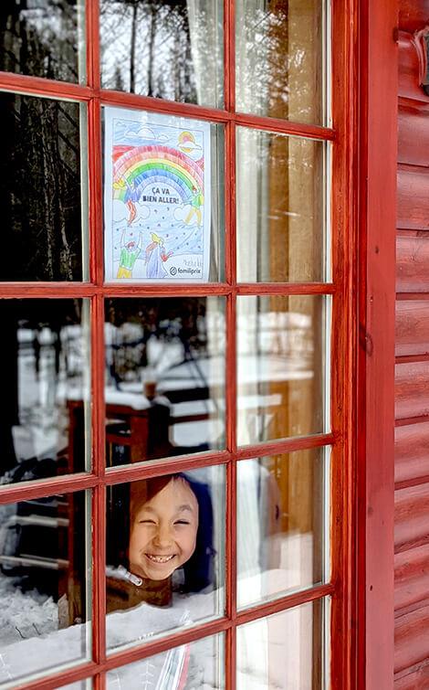 Coloriage Çava bien aller à la fenêtre